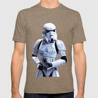 Tattooed Trooper Mens Fitted Tee Tri-Coffee SMALL
