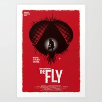 The Fly (Red Collection) Art Print