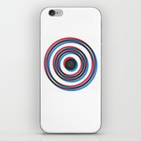 overlapping waves iPhone & iPod Skin