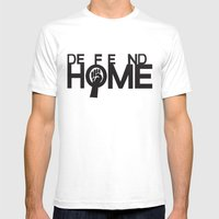Defend Home Mens Fitted Tee White SMALL