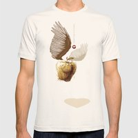 Glue Network Print Serie… Mens Fitted Tee Natural SMALL
