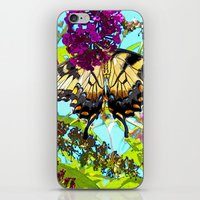 Yellow Butterfly Transpa… iPhone & iPod Skin