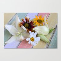 Flowers 'n Chalk Canvas Print