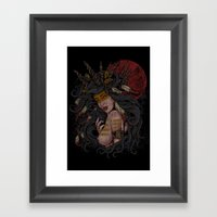 She of the Golden Feather Framed Art Print