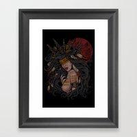 She Of The Golden Feathe… Framed Art Print