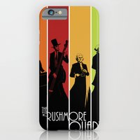 iPhone & iPod Case featuring The Mt. Rushmore Quartet by Alan Bao
