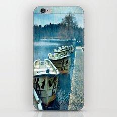 Boats in blue iPhone & iPod Skin