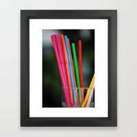 Straws Framed Art Print
