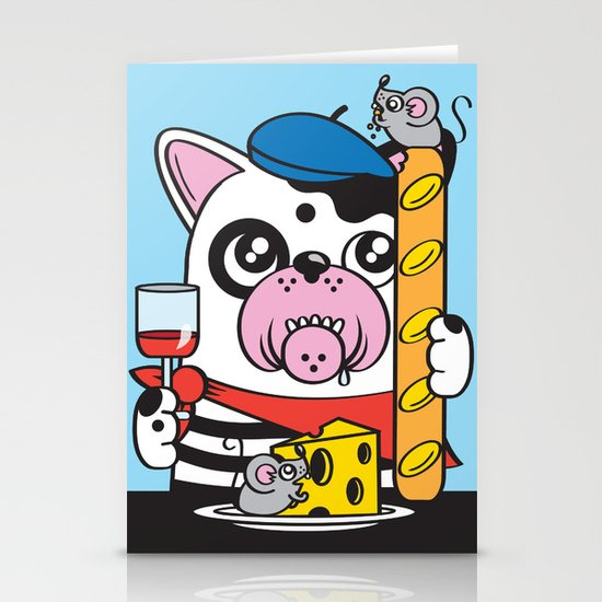 The Frenchie Connection Stationery Card
