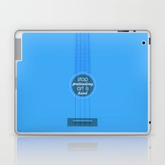 Stop pretending art is hard (blue) Laptop & iPad Skin