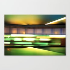 Light show of stairs Canvas Print
