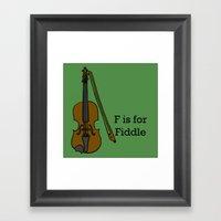 Fiddle, Typed Framed Art Print