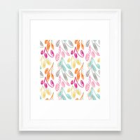 Colorful Swirls Framed Art Print