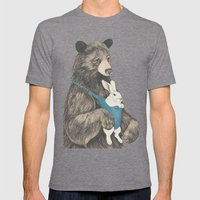 the bear au pair Mens Fitted Tee Tri-Grey SMALL