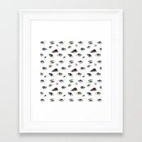 Dozens Of Eyes Framed Art Print