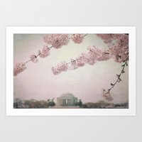 Washington DC Cherry Blo… Art Print