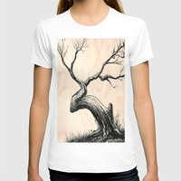 Tree In Bloom  Womens Fitted Tee White SMALL