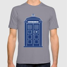 TARDIS Blueprint - Doctor Who Mens Fitted Tee Slate SMALL