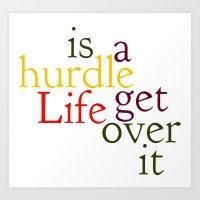 Hurdle 2 Art Print