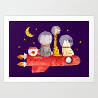 Let's All Go To Mars Art Print