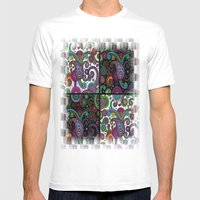Paisley Panels Mens Fitted Tee White SMALL