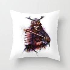Dead Samurai Throw Pillow