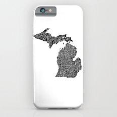 Typographic Michigan iPhone 6 Slim Case
