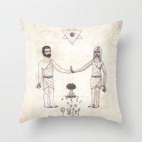 Tarot: VI - The Lovers Throw Pillow