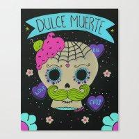 Dulce Muerte Sugarskull Canvas Print