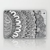 Black And White Doodle Laptop & iPad Skin