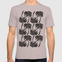 Palmtree Pattern Mens Fitted Tee Cinder SMALL
