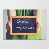 Choose Happiness Canvas Print