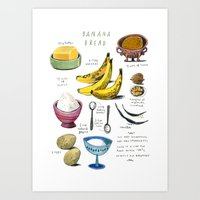 Illustrated Recipes: Ban… Art Print