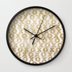xoxo gold Wall Clock