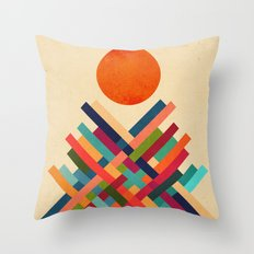 Sun Shrine Throw Pillow