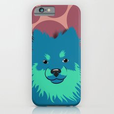 Olie the Pomeranian in Blue iPhone 6 Slim Case
