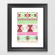 Neon Aztec Framed Art Print