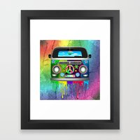 Hippie Van Dripping Rain… Framed Art Print