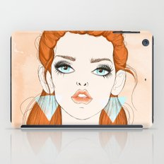 Red-haired girl iPad Case