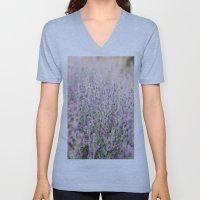 Purple flowers Unisex V-Neck