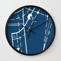 Pattern Master Navy Wall Clock