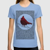 A Red Cardinal Womens Fitted Tee Athletic Blue SMALL