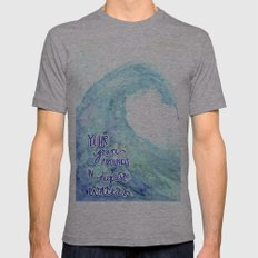 Grace Abounds In Deepest Waters Mens Fitted Tee Athletic Grey SMALL