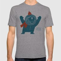 Snow Yeah Mens Fitted Tee Athletic Grey SMALL