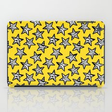 Yellow Zebra print stars iPad Case