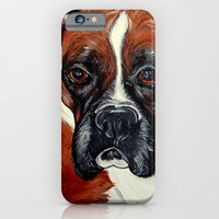 iPhone & iPod Case featuring Oscar the Boxer by WOOF Factory