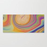 Caramel And Pastel Swirl… Canvas Print