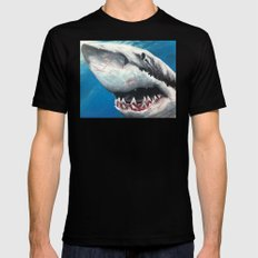 Shark Black SMALL Mens Fitted Tee
