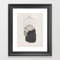 Pattern Girl Framed Art Print