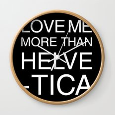 Love Helvetica Wall Clock